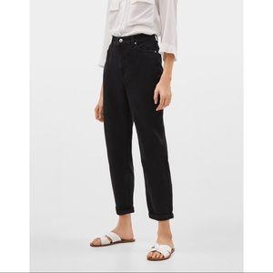Bershka- Black high waist mom jeans size 6